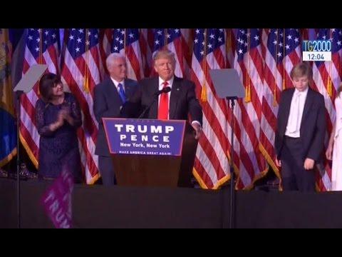 Donald Trump è il 45esimo presidente degli Stati Uniti. Le sue prime parole
