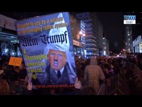 """Not my president"": manifestazioni anti Trump nelle maggiori città d'America"