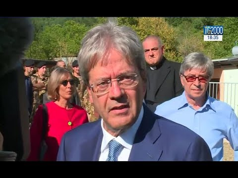 Terremoto, da Arquata del Tronto il premier Gentiloni conferma tutti gli impegni presi