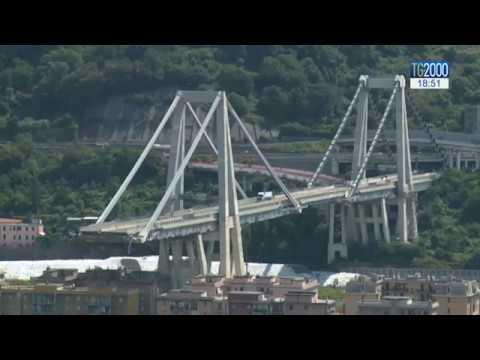 Genova, ponte Morandi: l'allerta meteo ferma la demolizione dei monconi
