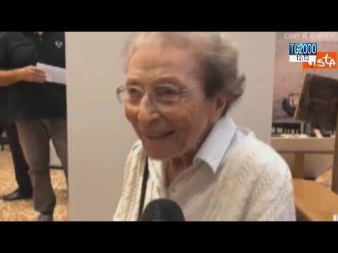 Emma Morosini, 94 anni, pellegrina più anziana d'Italia. 34mila km percorsi nel mondo