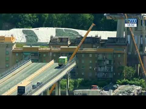 Ponte Genova: 20 avvisi garanzia. Video mostra crepa prima del crollo