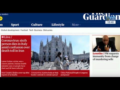 Coronavirus, ecco come la stampa estera parla del contagio in Italia