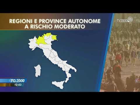 Covid, solo la Sicilia resta gialla. Scende indice Rt