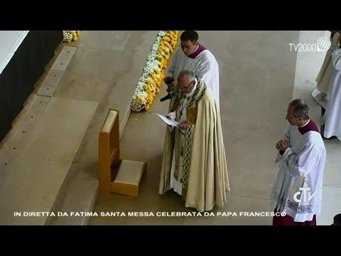 Fatima, Saluto di Papa Francesco ai malati