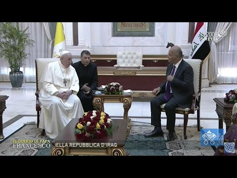 Speciale Il Diario di Papa Francesco, Visita al Presidente della Repubblica di Iraq – 5 marzo 2021