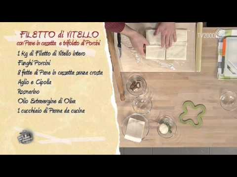Filetto di vitellone con pane in cassetta e trifolato di porcini in due minuti
