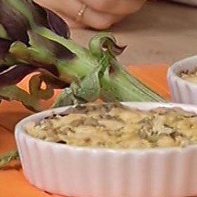 Crumble salati con carciofi