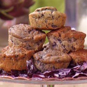 Muffin al cavolo rosso e philadelphia