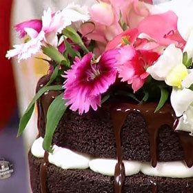 Naked Cake fiorita