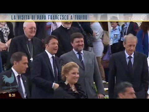 Torino, la visita del presidente Renzi alla Sindone