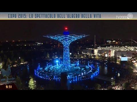 Expo 2015: lo spettacolo dell'albero della vita