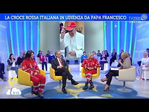 La Croce Rossa Italiana in udienza da Papa Francesco