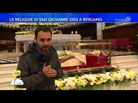 Le reliquie di San Giovanni XXIII a Bergamo