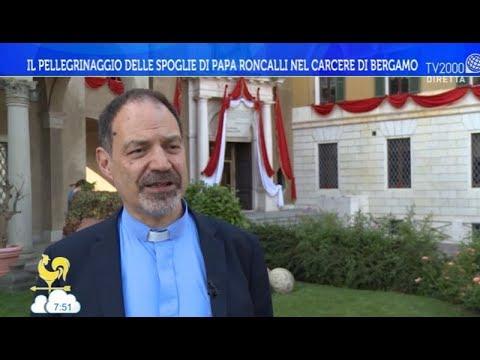 Il pellegrinaggio delle spoglie di Papa Roncalli nel carcere di Bergamo