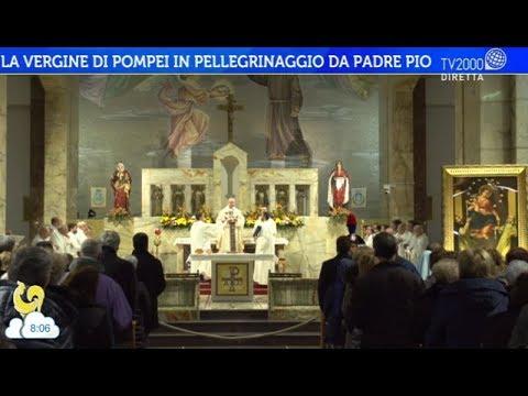 La Vergine di Pompei in pellegrinaggio da Padre Pio