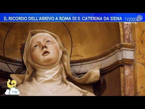 Il ricordo dell'arrivo a Roma di S. Caterina da Siena