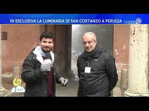 In esclusiva la luminaria di San Costanzo a Perugia