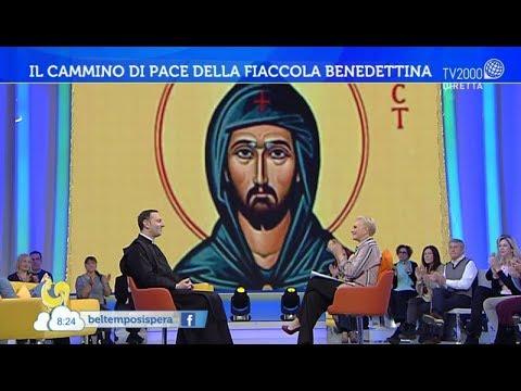 La fiaccola di S. Benedetto da Papa Francesco