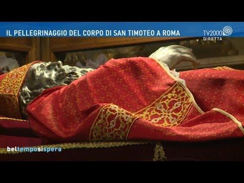 Il pellegrinaggio del corpo di San Timoteo a Roma